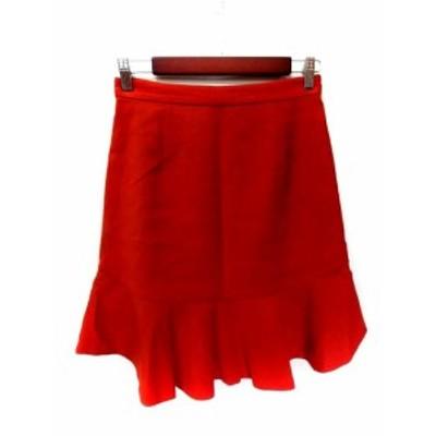 【中古】ロッソ ROSSO アーバンリサーチ フレアスカート ひざ丈 38 赤 レッド /YI レディース