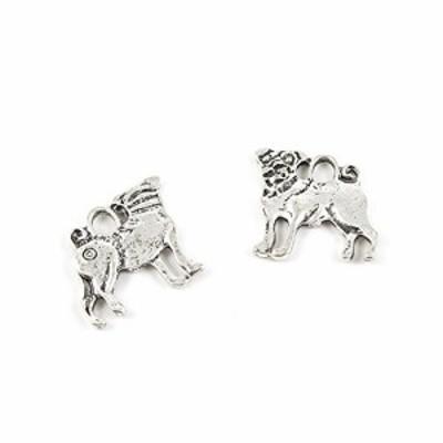 特別価格送料無料10x Ancient Silver Fashion Jewelry Making Charms 13103 Pug Dog Wholesale Supplies Pendant Cr