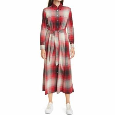 ラルフ ローレン POLO RALPH LAUREN レディース ワンピース シャツワンピース ワンピース・ドレス Plaid Long Sleeve Shirtdress Red/Bla