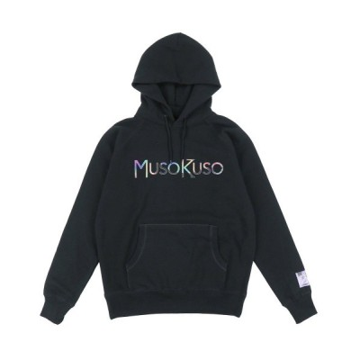 NUBIAN / 【MUSO KUSO】NUBIAN EXCLUSIVE EMBLEM MULTICOLORE HOODIE / BLK MEN トップス > パーカー