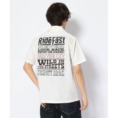 シャツ ブラウス Schott/ショット/WORK SHIRT RIDE MESSAGE/ワークシャツ ライドファースト