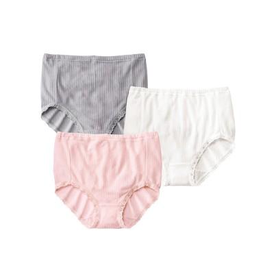 シルク入り ウエストゴムが取替えられる深ばきショーツ3枚組(L) スタンダードショーツ, Panties