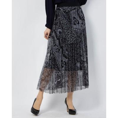 デシグアル Desigual スカート FABIOLA (グレー/ブラック)
