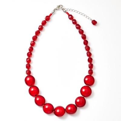A-style KYOTO エースタイル キョウト  ベネチアンガラスショートネックレス(赤) レディース
