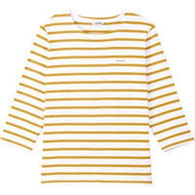 チトセチトセ AS8253 バスクシャツ(七分袖)〔兼用〕 LL AS8253_C-8ホワイト×ゴールド_LL(取寄品)