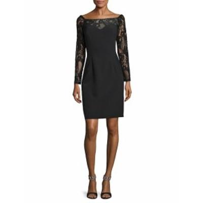 JS コレクションズ レディース ワンピース Stretch Crepe Lace Dress