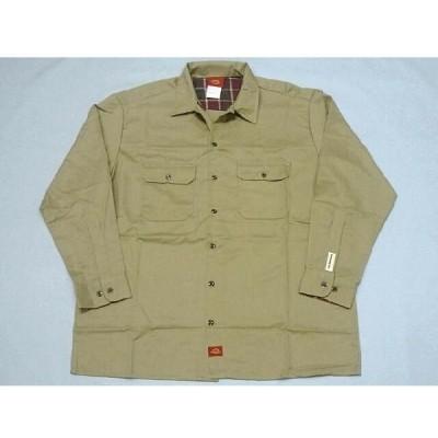 Dickies 90th Anniversary WD574 Original L/S Work Shirt(KHAKI) - デッキーズ メンズ ワークシャツ 90周年記念モデル -
