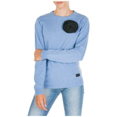 セーター レディース ブルマリン BE BLUMARINE WOMEN'S JUMPER SWEATER CREW NECK ROUND NEW LIGHT BLUE EC0