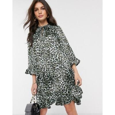 ワイエーエス レディース ワンピース トップス Y.A.S animal print smock dress