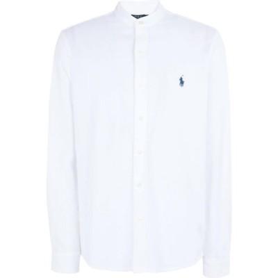 ラルフ ローレン POLO RALPH LAUREN メンズ シャツ トップス custom slim fit mesh shirt White
