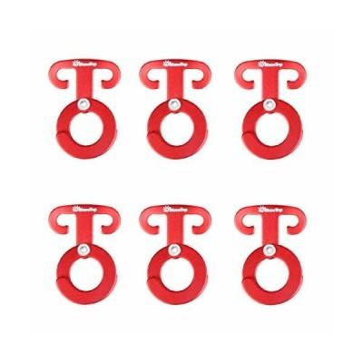 TRIWONDER ロープフック キャンプハンガー アルミ 自在金具 引掛けフック ロープハンガー アウトドア ランタン