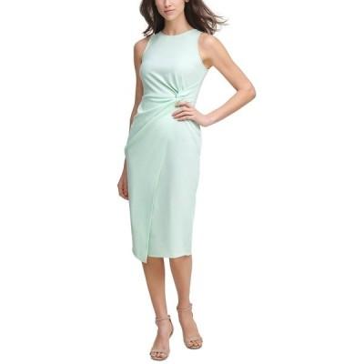 ゲス ワンピース トップス レディース Twist-Front Scuba-Crepe Sheath Dress Mint