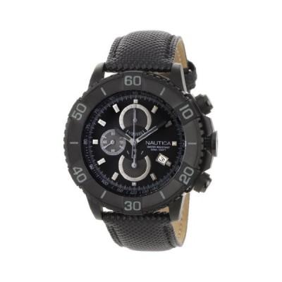 腕時計 ノーティカ メンズ N20062G Nautica Men's N20062G NST 500 Black Polyurethane and Black Dial Wa