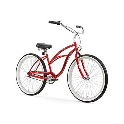 特別価格Firmstrong Urban Lady Three Speed Beach Cruiser Bicycle, 26-Inch, Red好評販売中