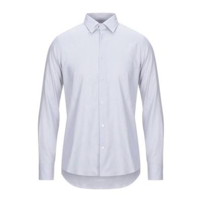 LAB. PAL ZILERI 無地シャツ ファッション  メンズファッション  トップス  シャツ、カジュアルシャツ  長袖 ライトグレー