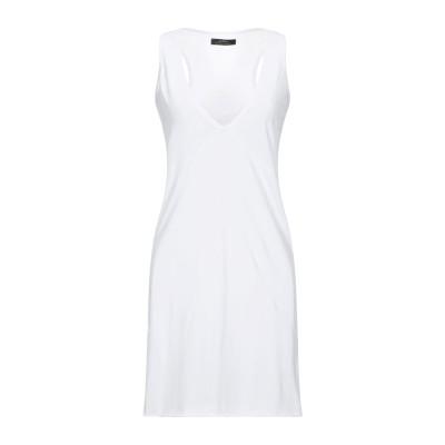 ALPHA MASSIMO REBECCHI ミニワンピース&ドレス ホワイト 44 コットン 100% ミニワンピース&ドレス