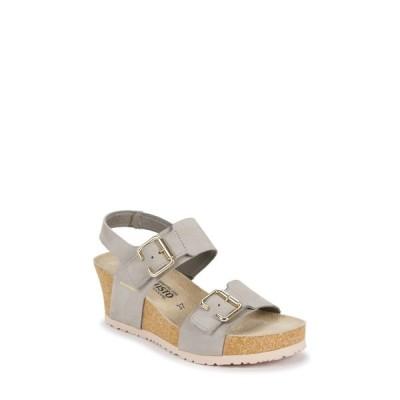 メフィスト MEPHISTO レディース サンダル・ミュール ウェッジソール シューズ・靴 Lissandra Platform Wedge Sandal Light Grey Nubuck