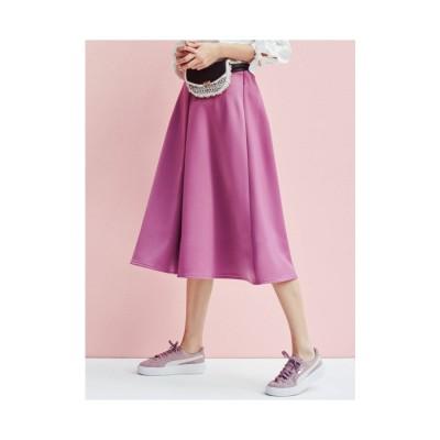 MERCURYDUO サテンボンディングスカート パープル