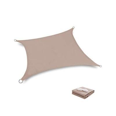 Tuosite 日除け シェード シェードセイル サンシェード UVカット 紫外線95%カットカーキ 2 x 2.5m長方形 軽量 防水性