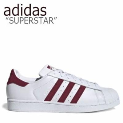 アディダス スーパースター スニーカー adidas メンズ レディース SUPERSTAR スーパースター WHITE RED ホワイト レッド EF9240 シューズ