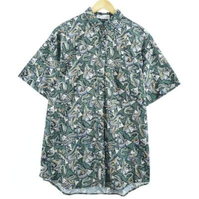 コロンビア ボタンダウン ハワイアンアロハシャツ XL /eaa045406