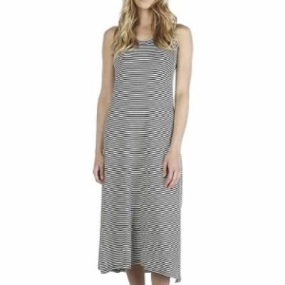 ムースジョー Moosejaw レディース ワンピース マキシ丈 ワンピース・ドレス Lakeside Maxi Dress Charcoal/Ivory Stripe