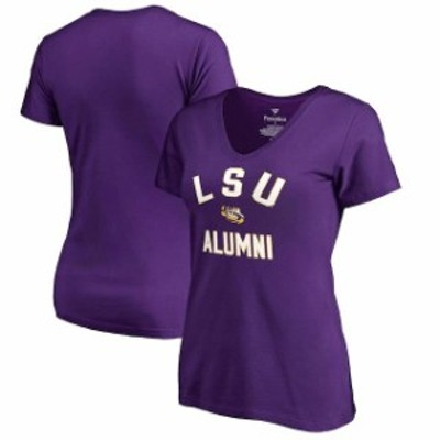 Fanatics Branded ファナティクス ブランド スポーツ用品  Fanatics Branded LSU Tigers Womens Purple Team Alumni V-Neck T-Shirt