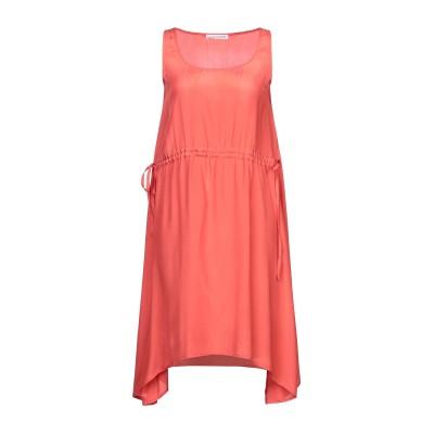 カフェノワール CAFèNOIR ミニワンピース&ドレス コーラル XS レーヨン 100% ミニワンピース&ドレス