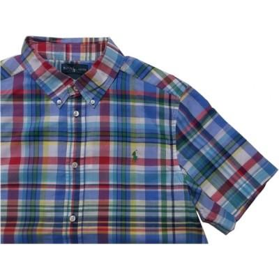 ポロ ラルフローレン ボーイズサイズ 半袖 ボタンダウンシャツ ブルー Polo Ralph Lauren boys 688
