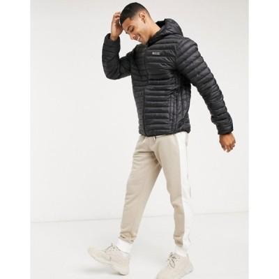 ニッチェ ロンドン メンズ ジャケット・ブルゾン アウター Nicce maidan puffer jacket in black