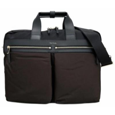 未使用 ポールスミス 3WAY 軽量 ブリーフケース リュックサック ビジネスバッグ 書類かばん PSN147 ブラウン バックパック 茶色 ブラック