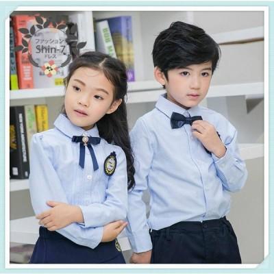 男の子女の子シャツ入学式卒園式子供服 お受験フォーマル発表会結婚式ブルー
