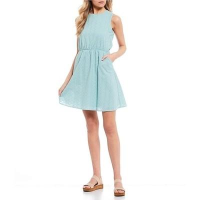 カッパーキー レディース ワンピース トップス Eyelet Sleeveless Dress