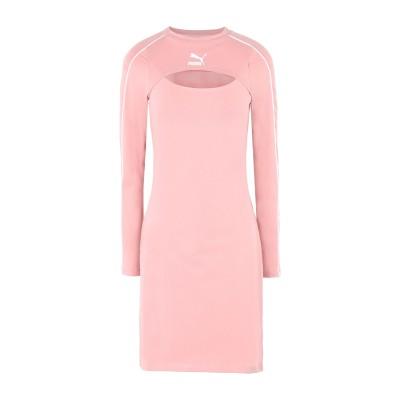プーマ PUMA ミニワンピース&ドレス ピンク S コットン 95% / ポリウレタン 5% ミニワンピース&ドレス