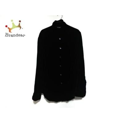 ジョルジオアルマーニ GIORGIOARMANI 長袖シャツ サイズ37 メンズ - 黒 ベロア 新着 20200711