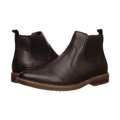 SKECHERS スケッチャーズ メンズ 男性用 シューズ 靴 ブーツ チェルシーブーツ Bregman - Morago - Brown