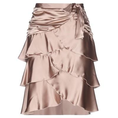ブルマリン BLUMARINE ひざ丈スカート ドーブグレー 44 シルク 69% / レーヨン 26% / ポリウレタン 5% ひざ丈スカート