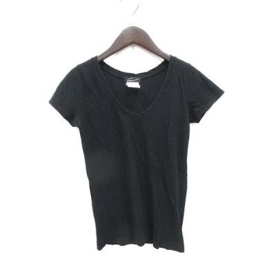 【中古】スタニングルアー STUNNING LURE カットソー Tシャツ Vネック 半袖 F 黒 ブラック /KB レディース 【ベクトル 古着】