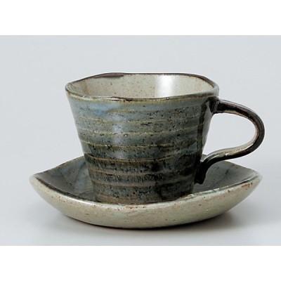 コーヒーカップ ソーサー/ 窯変ゴスさざ波コーヒー碗皿 /碗皿 業務用 ホテル レストラン おしゃれ
