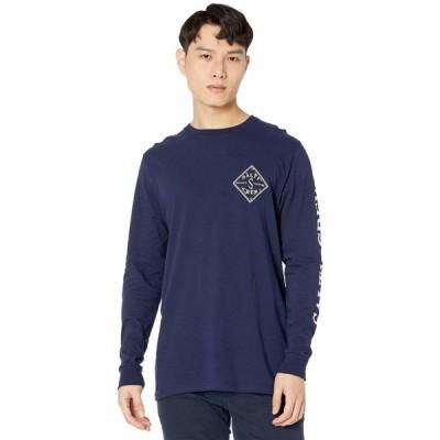 ソルティクルー シャツ トップス メンズ Tippet Topsail Standard Long Sleeve T-Shirt Navy