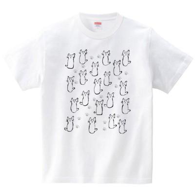 イタクシーズ Tシャツ [ ハテナポップ 猫いっぱい ] tsukamotojunko [メンズ]