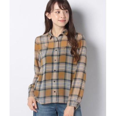 CARA O CRUZ/キャラ・オ・クルス シアーチェックシャツ ブラウン系3 9