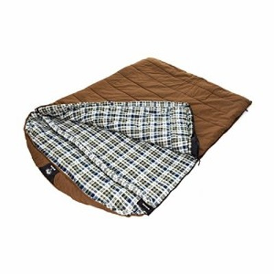 Grizzly 2 Person 25 Degree Canvas Sleeping Bag Tan