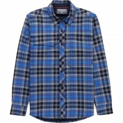 シムズ Simms メンズ シャツ フランネルシャツ トップス Guide Flannel Long - Sleeve Shirt Admiral Blue Plaid
