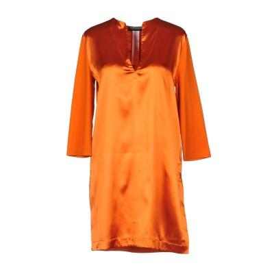 ツインセット シモーナ バルビエリ TWINSET ミニワンピース&ドレス 赤茶色 XS 95% ポリエステル 5% ポリウレタン コットン ミニワ