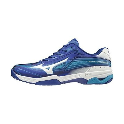 [ミズノ] テニスシューズ ウエーブエクシード 3 WIDE OC ブルー×ホワイト×ライトブルー 24.5 cm 3E