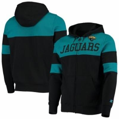 """メンズ パーカー """"Jacksonville Jaguars"""" Starter Winning Team Full-Zip Hoodie - Black/Teal"""
