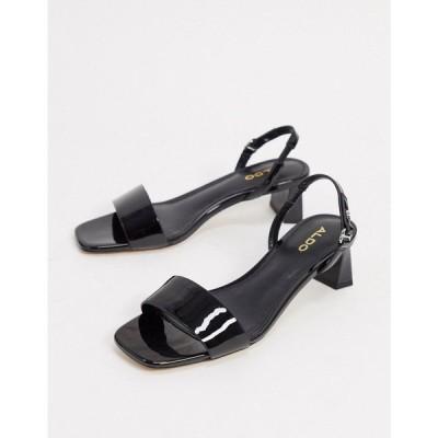 アルド ALDO レディース サンダル・ミュール シューズ・靴 Aldo Mid Heel Sandals With Sling Back In Black ブラック