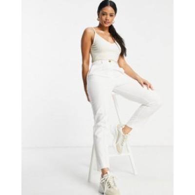 エイソス レディース カジュアルパンツ ボトムス ASOS DESIGN clean linen cigarette suit pants White