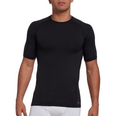 DSG メンズ Tシャツ トップス Compression Crew T-Shirt Pure Black